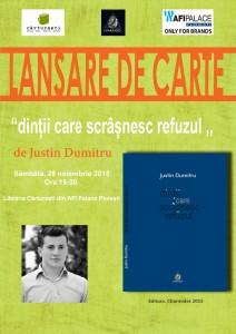 """Lansare Carte Justin Dumitru-""""dinții care scrâșnesc refuzul"""" @Cărturești din AFI Palace Ploiesti"""
