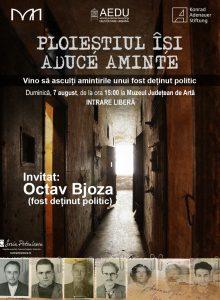 "Octav Bjoza va sustine o conferinta, in cadrul ""Ploiestiul isi aduce aminte"""